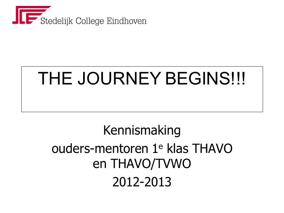 Kennismaking ouders-mentoren 1 e klas THAVO en THAVO/TVWO 2012-2013