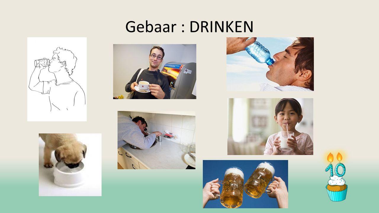 Gebaar : DRINKEN