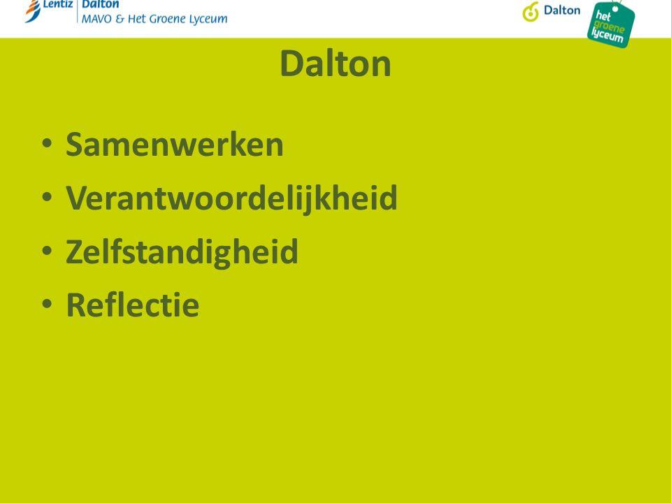 Dalton Samenwerken Verantwoordelijkheid Zelfstandigheid Reflectie