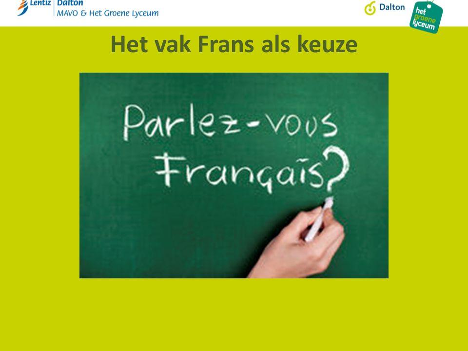 Het vak Frans als keuze