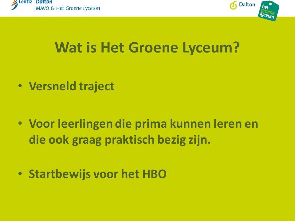 Wat is Het Groene Lyceum.