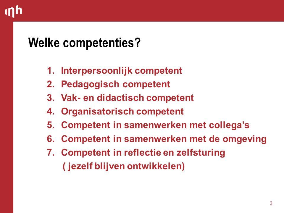 Welke competenties.