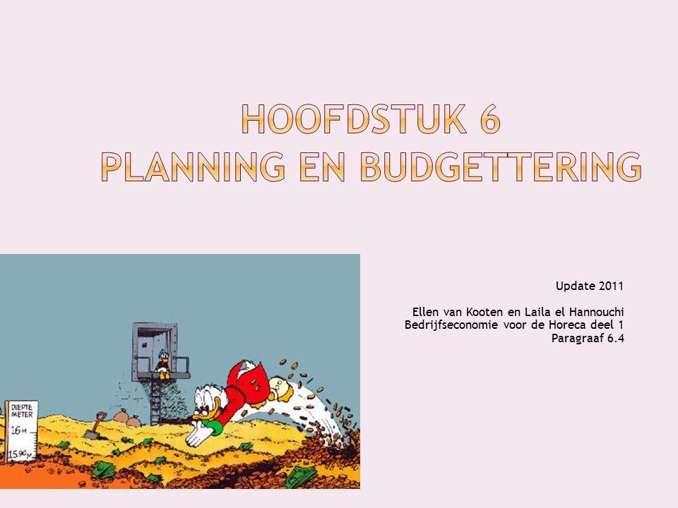 Update 2011 Ellen van Kooten en Laila el Hannouchi Bedrijfseconomie voor de Horeca deel 1 Paragraaf 6.4