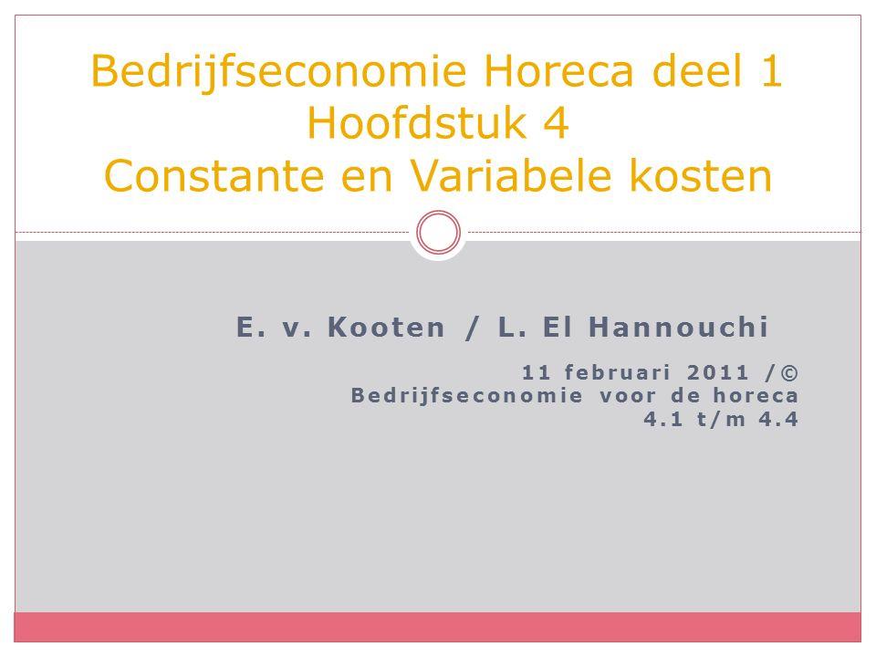 E. v. Kooten / L.