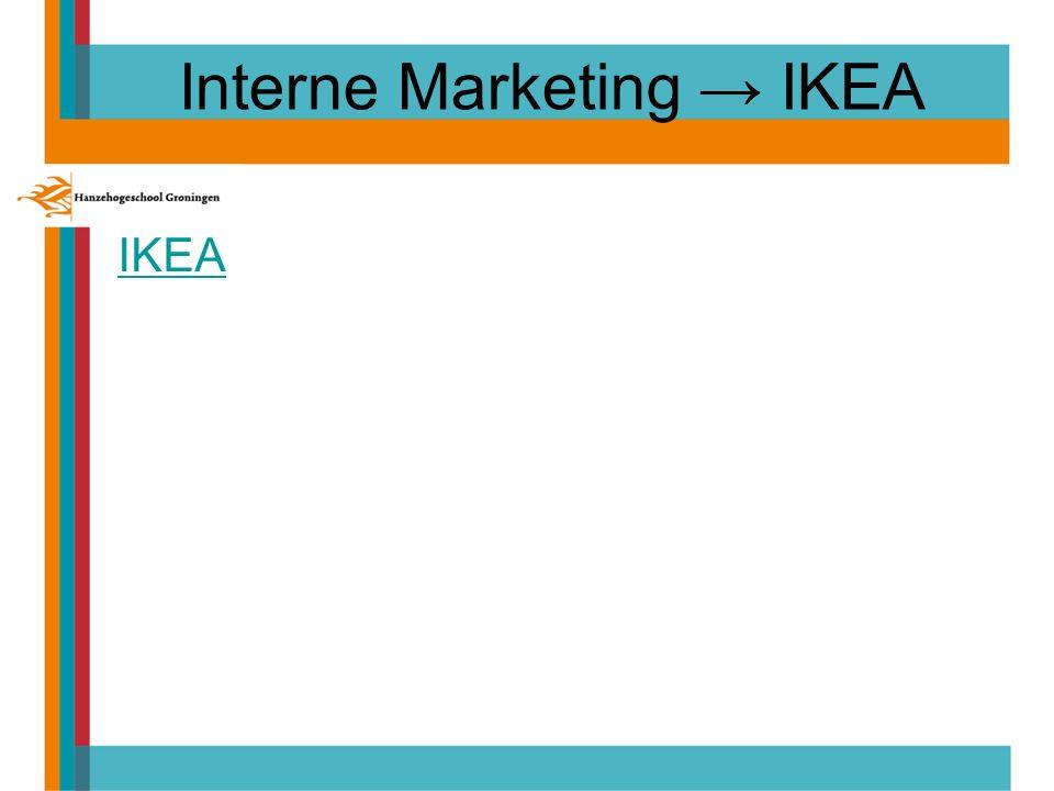 Interne Marketing → IKEA IKEA