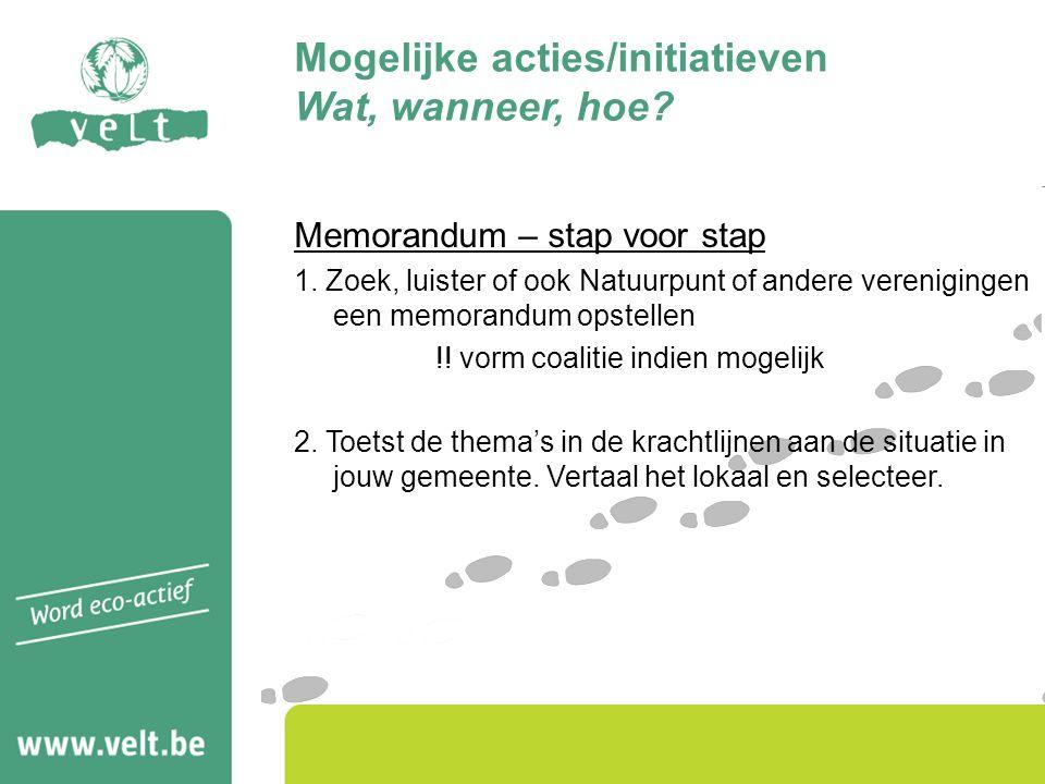 Memorandum – stap voor stap 1.