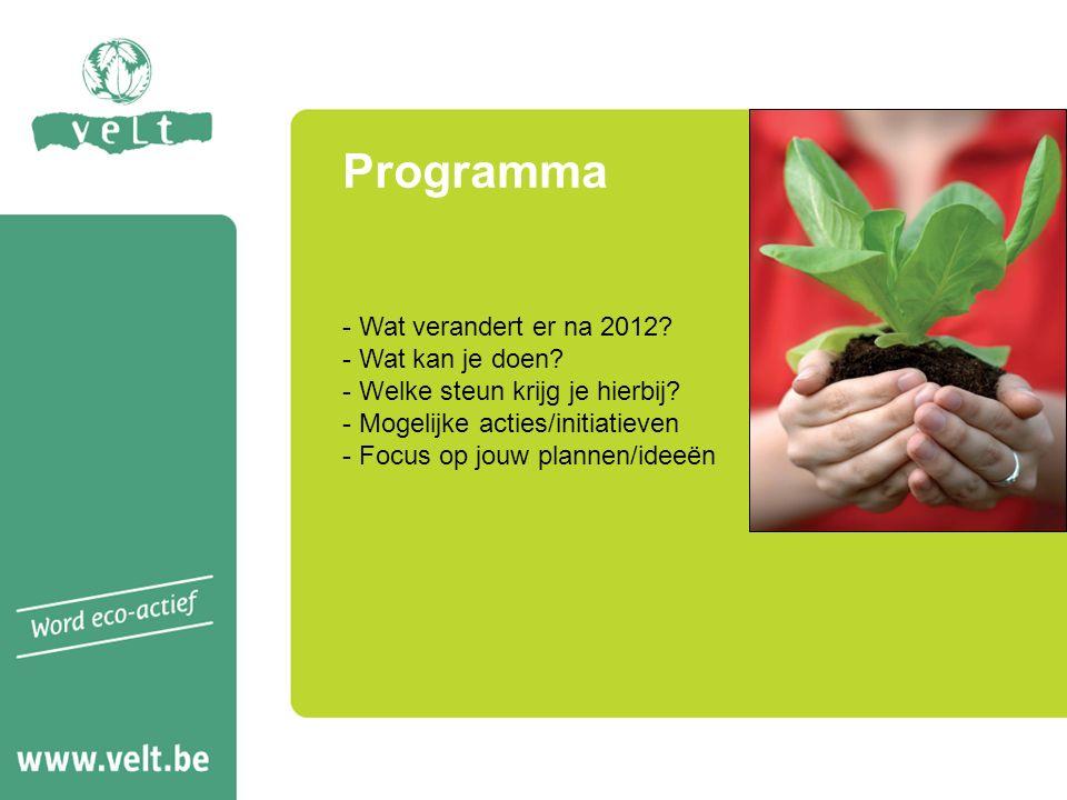 Voorbeeld fiches Velt gerelateerd - Stimuleer lokale productie - Ga voor een gezonde gemeente, zonder pesticiden - Samen tuinen: openbaar groen ecologisch beheerd en een knappe sociale troef -...