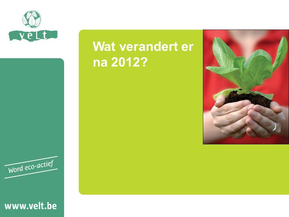 Wat verandert er na 2012
