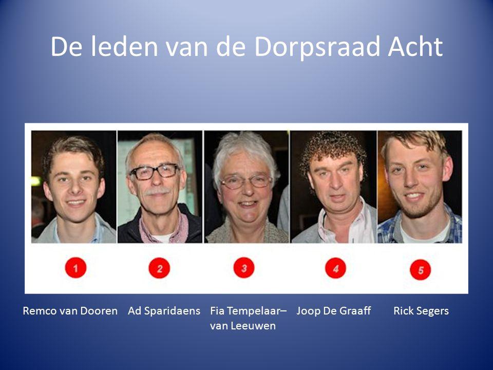 De leden van de Dorpsraad Acht Ad SparidaensRemco van DoorenFia Tempelaar– van Leeuwen Joop De GraaffRick Segers