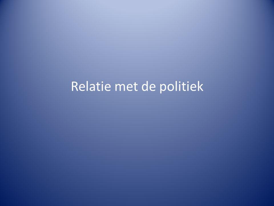 Relatie met de politiek