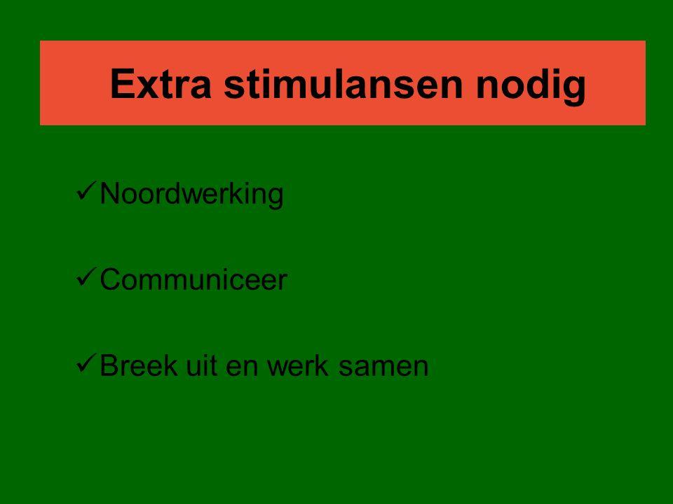 Extra stimulansen nodig Noordwerking Communiceer Breek uit en werk samen