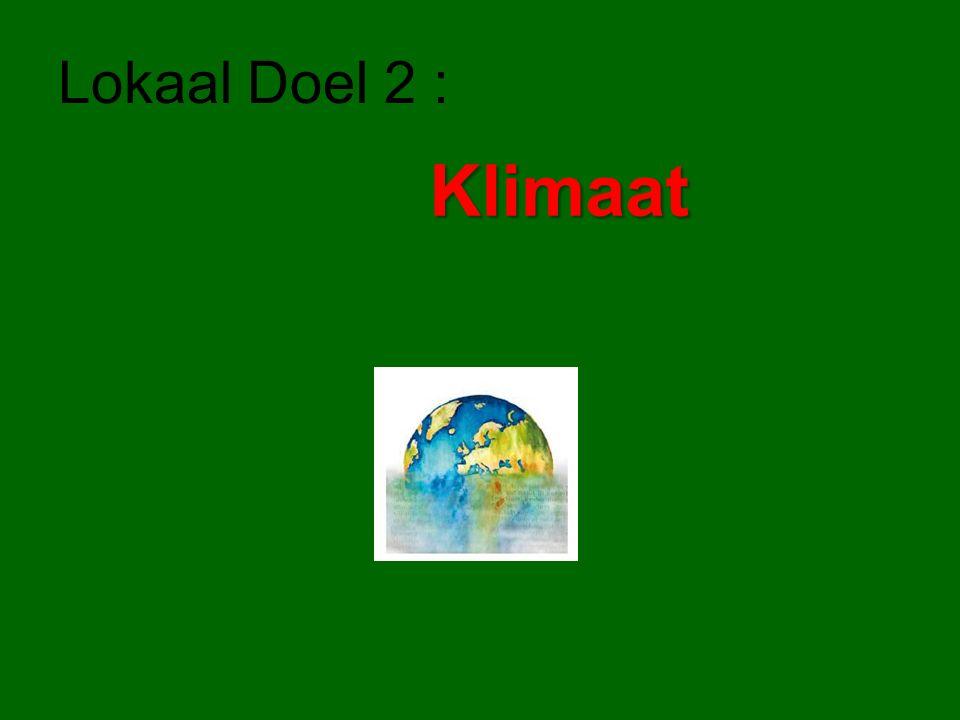 Lokaal Doel 2 : Klimaat