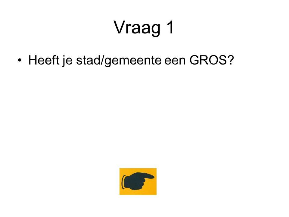 Vraag 1 Heeft je stad/gemeente een GROS?