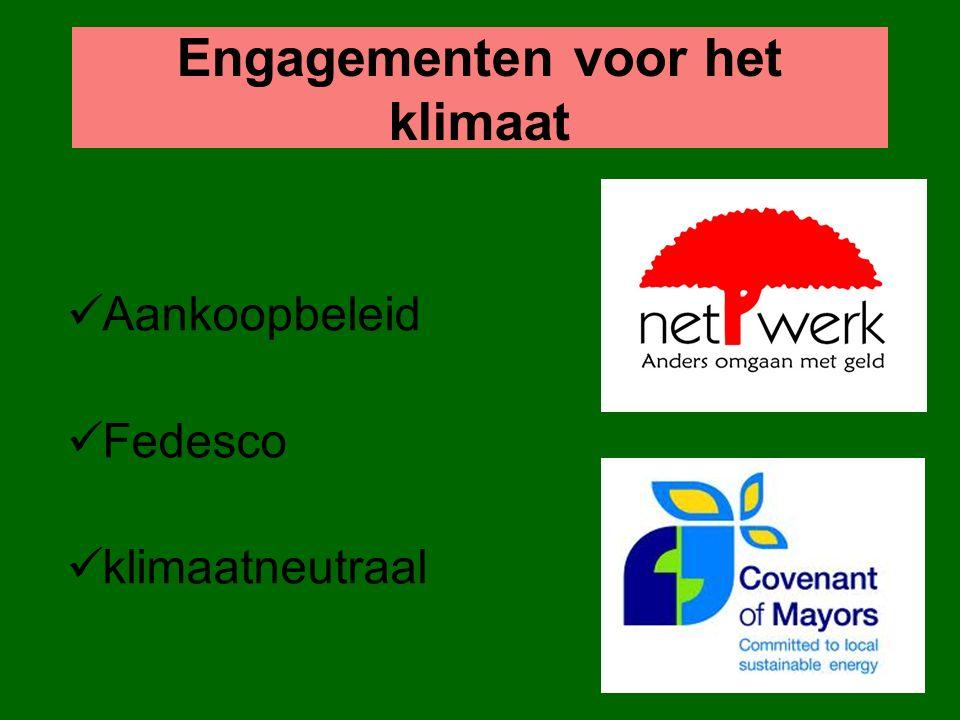 Engagementen voor het klimaat Aankoopbeleid Fedesco klimaatneutraal