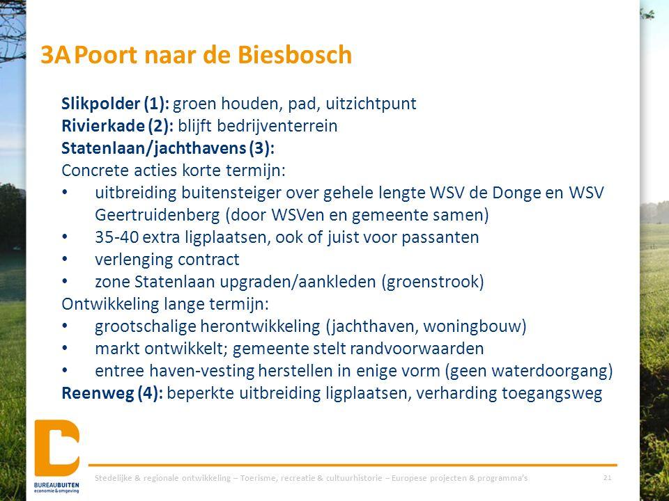 3APoort naar de Biesbosch Stedelijke & regionale ontwikkeling – Toerisme, recreatie & cultuurhistorie – Europese projecten & programma's 21 Slikpolder