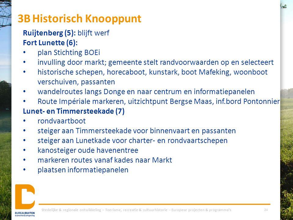3BHistorisch Knooppunt Stedelijke & regionale ontwikkeling – Toerisme, recreatie & cultuurhistorie – Europese projecten & programma's 24 Ruijtenberg (