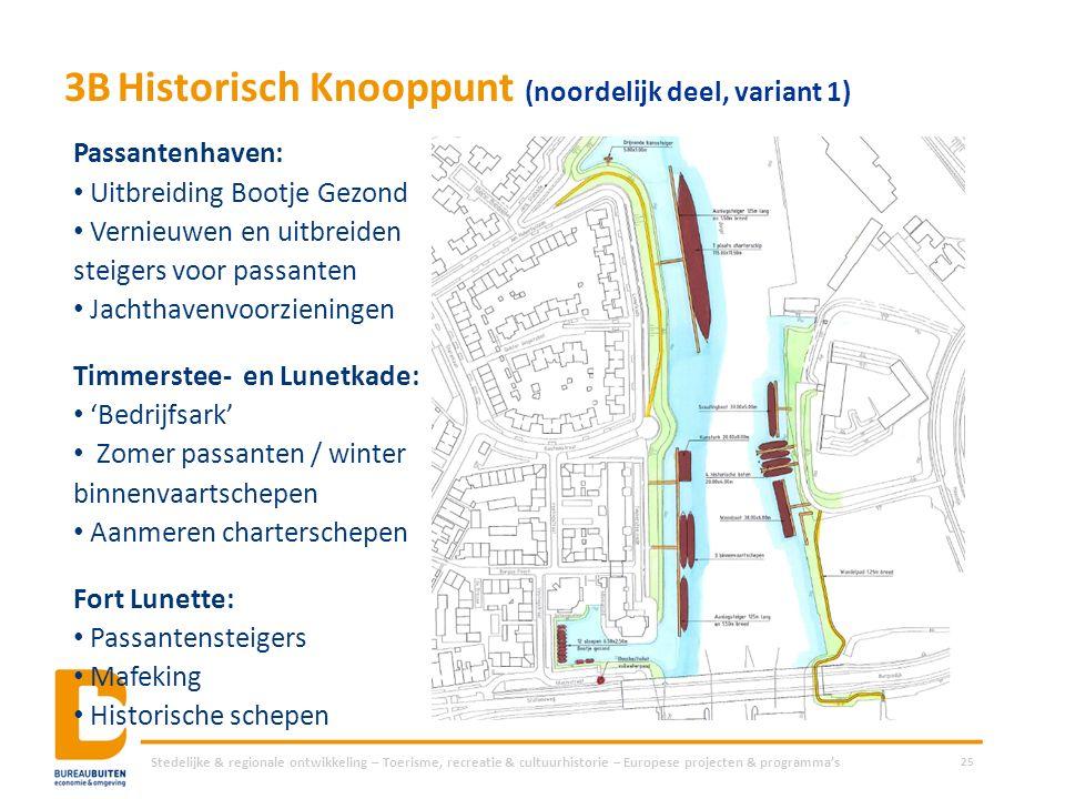 3BHistorisch Knooppunt (noordelijk deel, variant 1) Stedelijke & regionale ontwikkeling – Toerisme, recreatie & cultuurhistorie – Europese projecten &