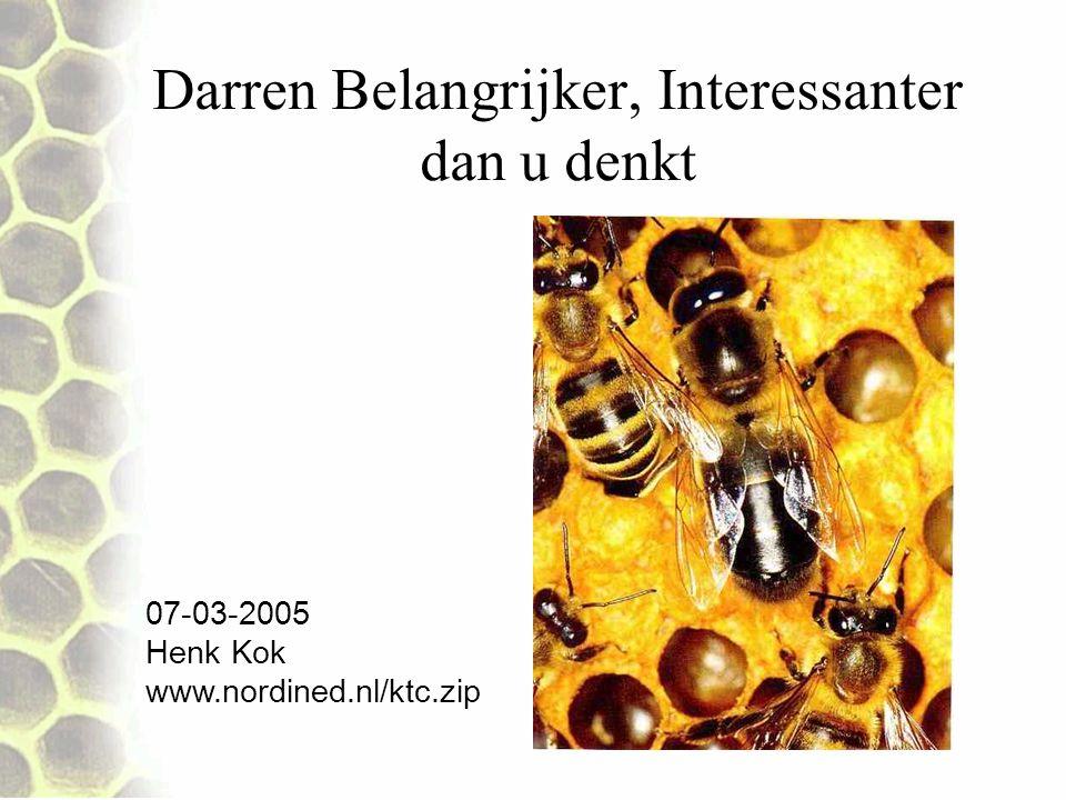 Geslachtsrijpe darren 31,5% van geslachtsrijpe darren bezitten slechts 11% veel sperma Darren ouder dan 3 weken zijn ongeschikt voor paring.