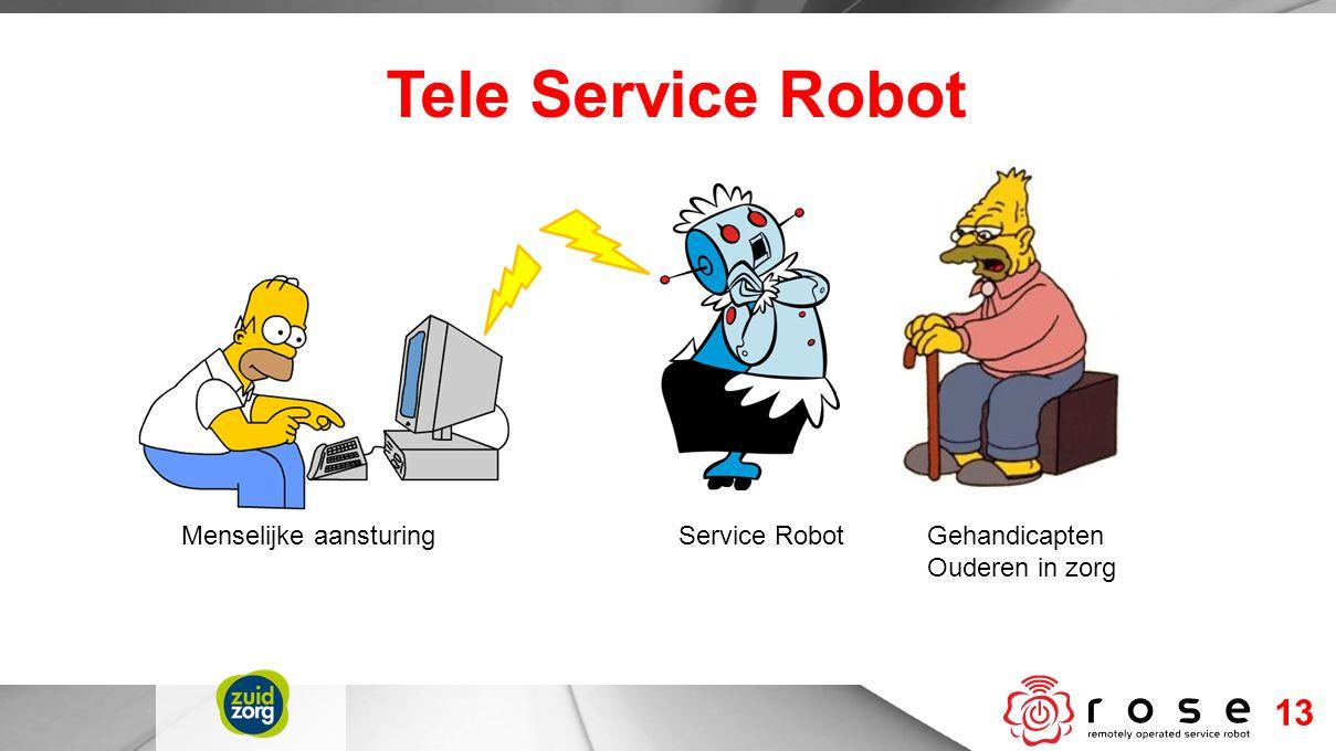 Tele Service Robot 13 Gehandicapten Ouderen in zorg Service Robot Menselijke aansturing