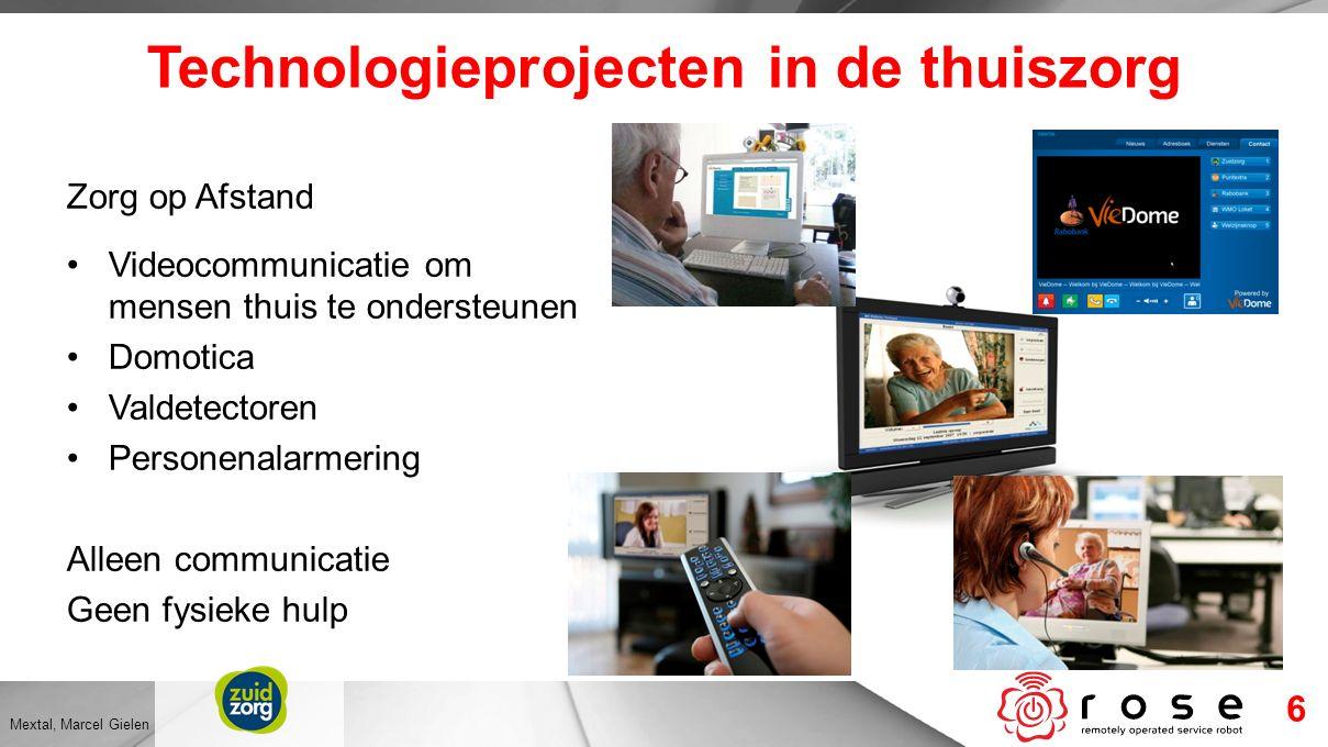 Technologieprojecten in de thuiszorg Zorg op Afstand Videocommunicatie om mensen thuis te ondersteunen Domotica Valdetectoren Personenalarmering Allee