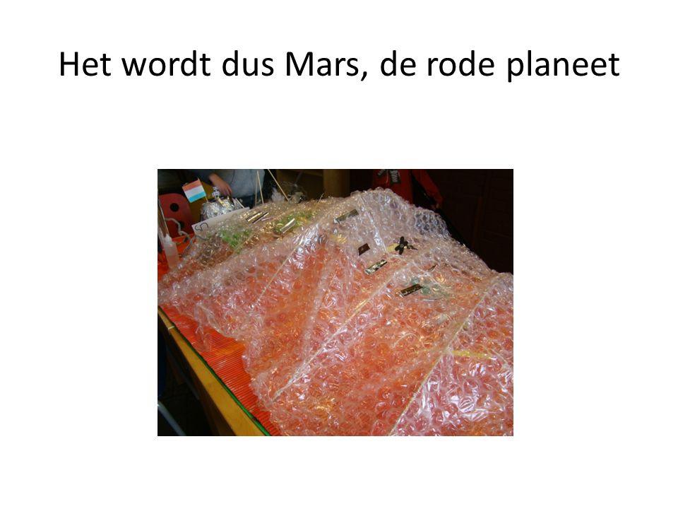 Het wordt dus Mars, de rode planeet