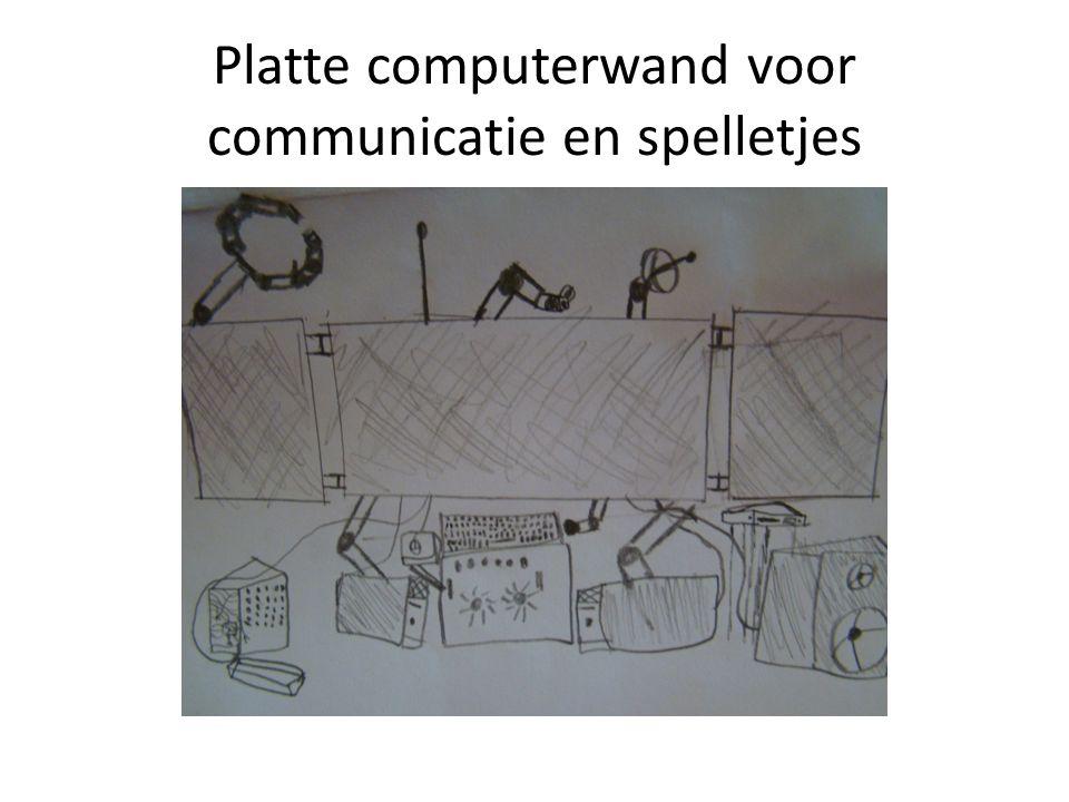 Platte computerwand voor communicatie en spelletjes
