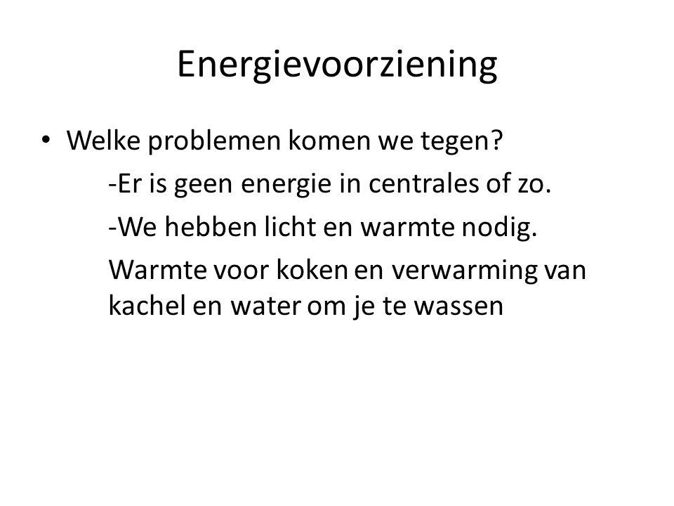 Energievoorziening Welke problemen komen we tegen.