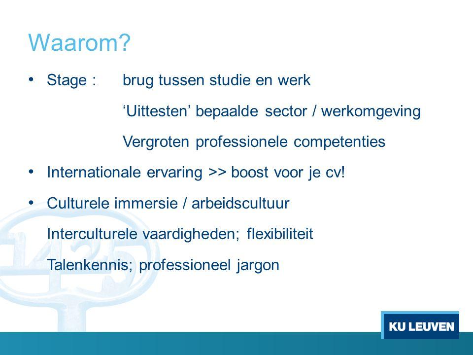 Erasmus+ beurs Tegemoetkoming in de onkosten buitenlandse stage 3 bedragen i.f.v.