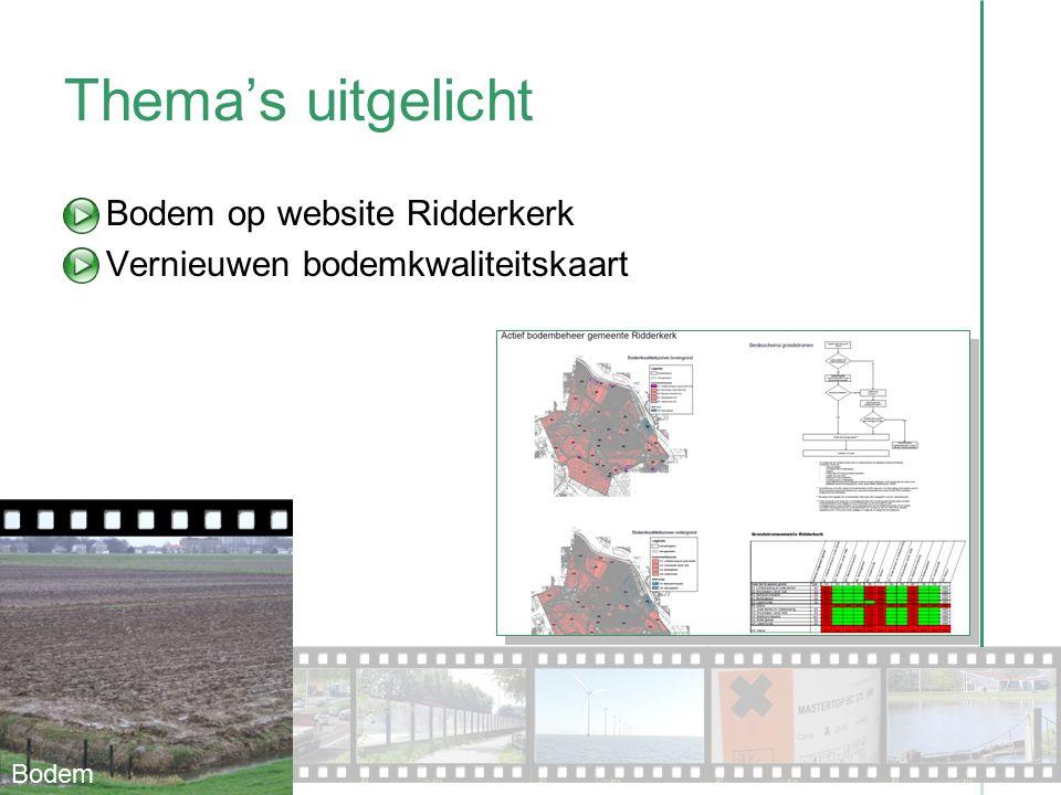 Thema's uitgelicht Bodem op website Ridderkerk Vernieuwen bodemkwaliteitskaart Bodem