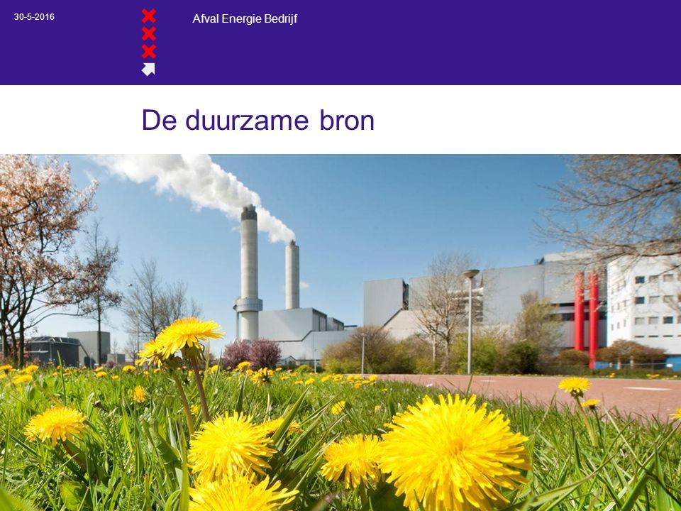 Afval Energie Bedrijf 30-5-2016 De duurzame bron