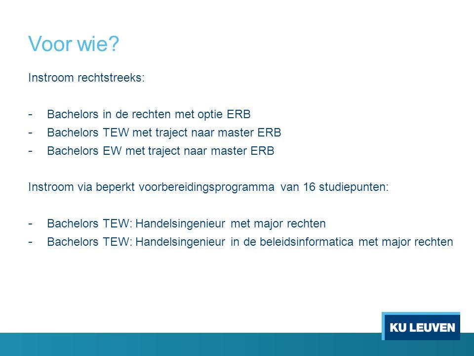 Opbouw master ERB voor (bedrijfs)economische bachelors