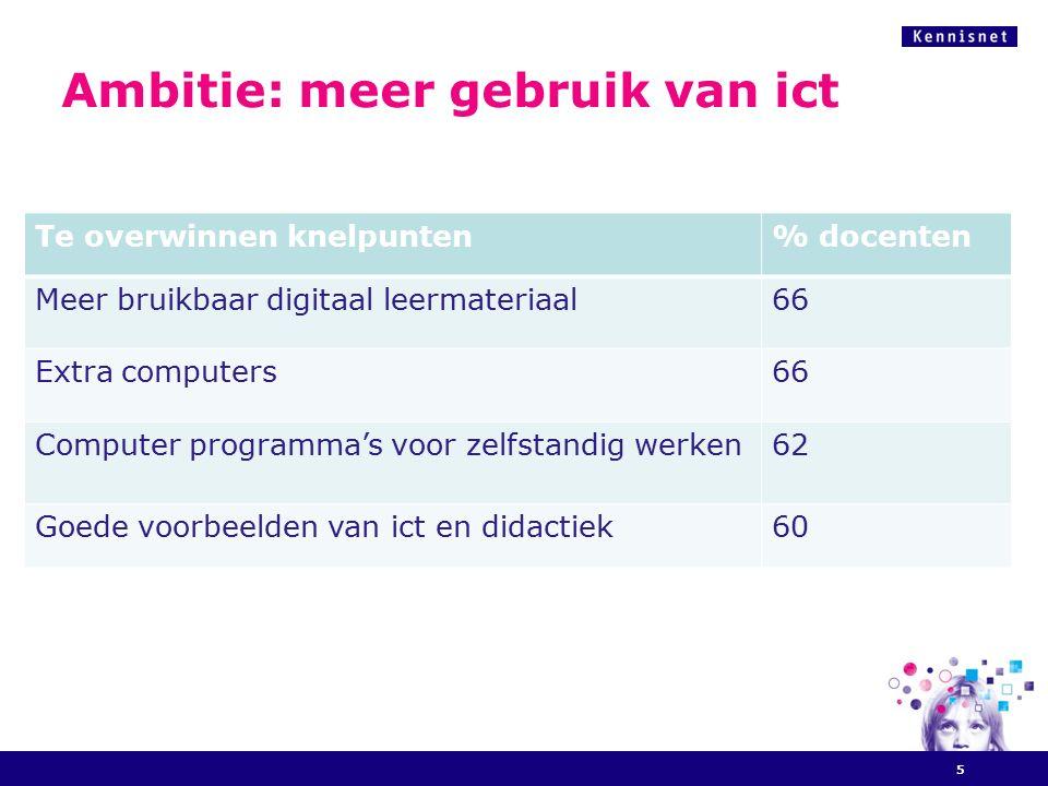 Wat is er nodig om docenten te voorzien van meer bruikbaar digitaal leermateriaal.