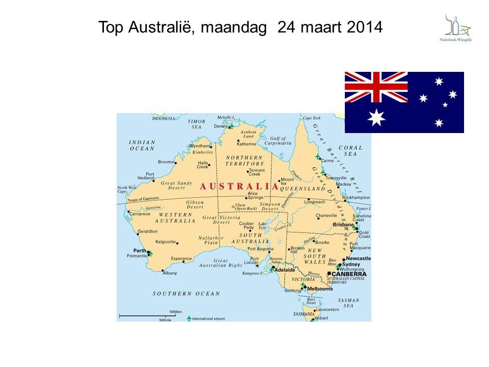 Top Australië, maandag 24 maart 2014