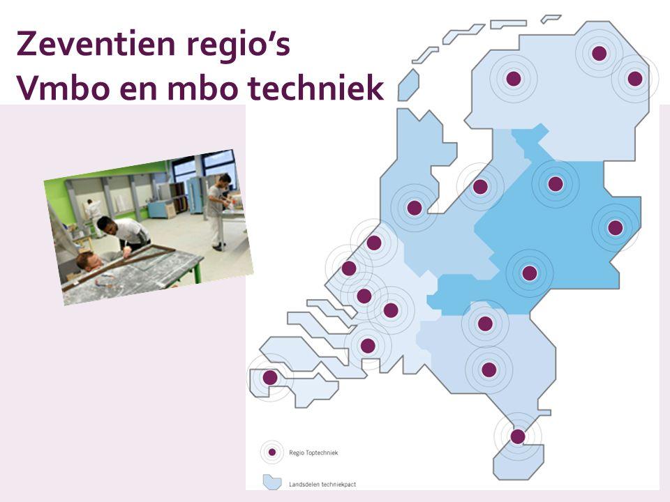 Zeventien regio's Vmbo en mbo techniek