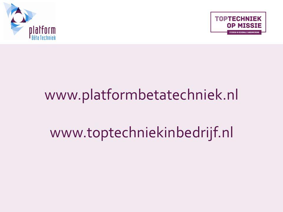 www.platformbetatechniek.nl www.toptechniekinbedrijf.nl