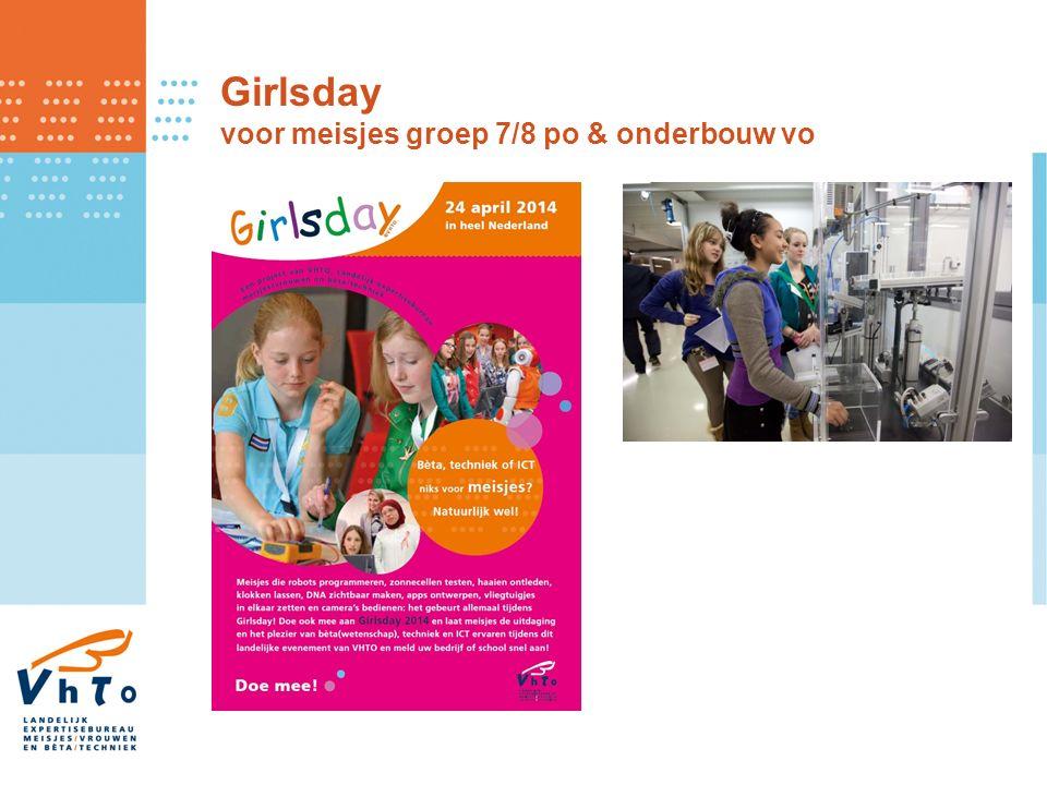 Girlsday voor meisjes groep 7/8 po & onderbouw vo