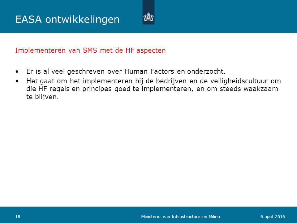 Implementeren van SMS met de HF aspecten Er is al veel geschreven over Human Factors en onderzocht.