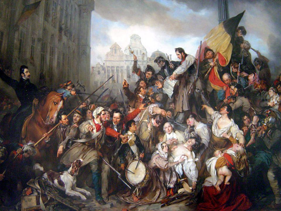Vraag 10 Soms komt een volk in opstand tegen zijn vorst. In 1830 was dit het geval in België. De Belgen waren het zat om in het Verenigd Koninkrijk de