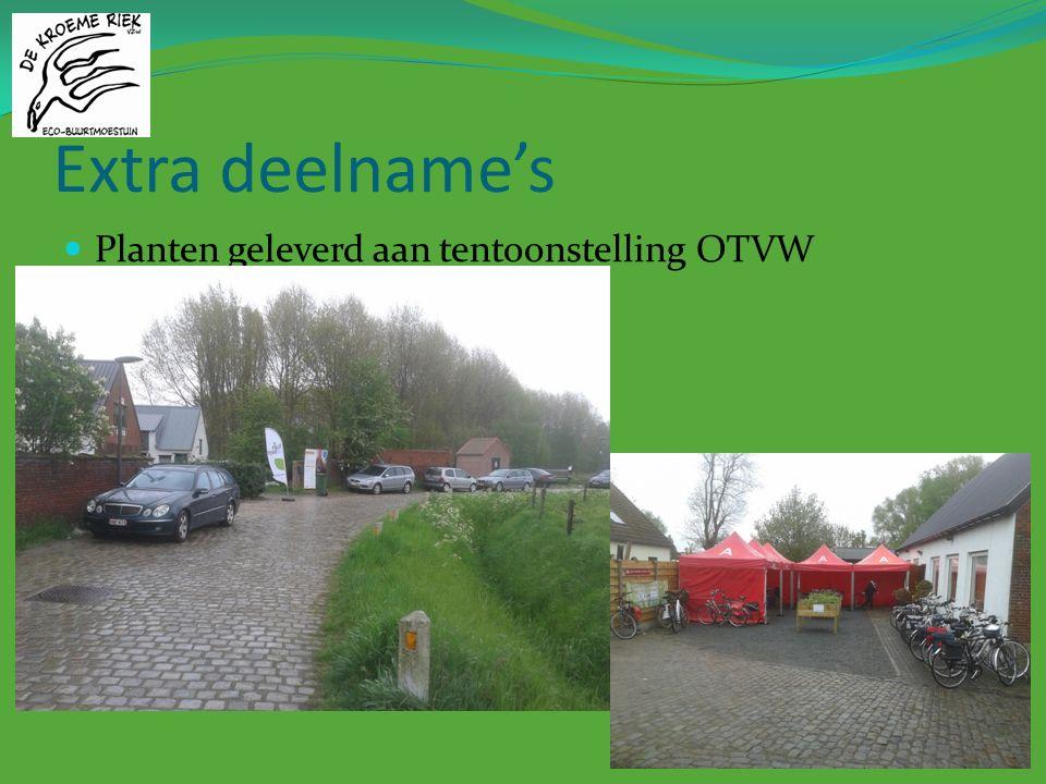Extra deelname's Planten geleverd aan tentoonstelling OTVW