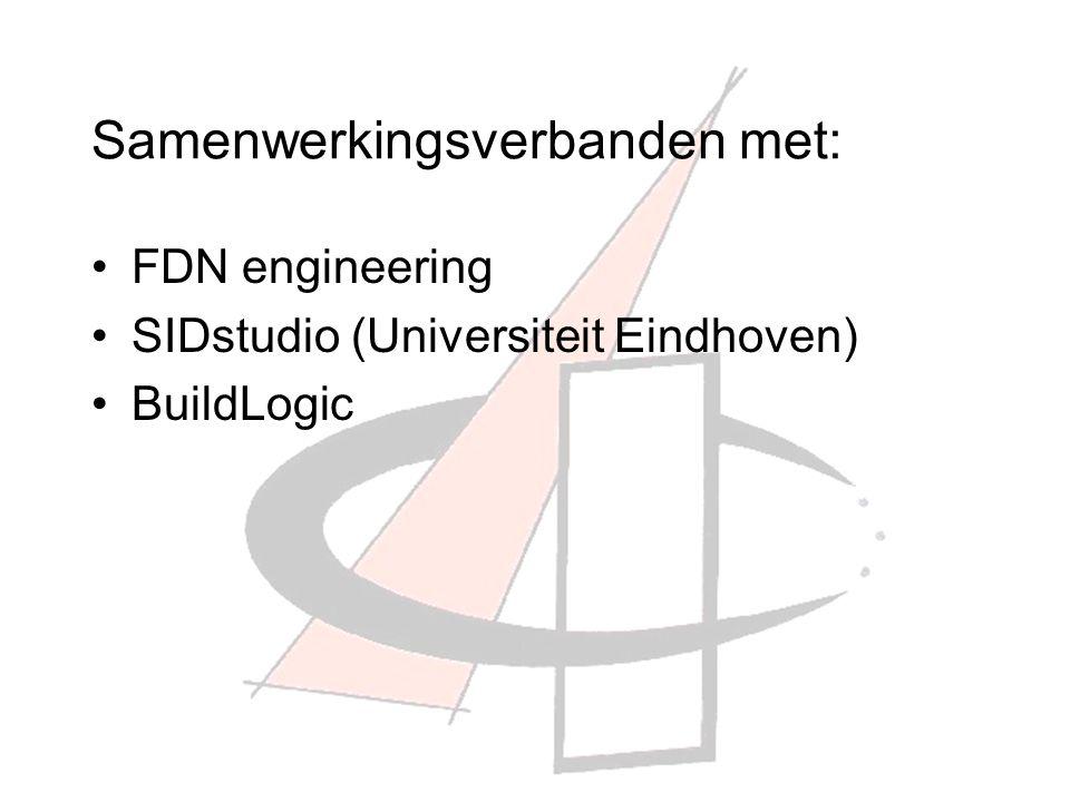 Samenwerkingsverbanden met: FDN engineering SIDstudio (Universiteit Eindhoven) BuildLogic