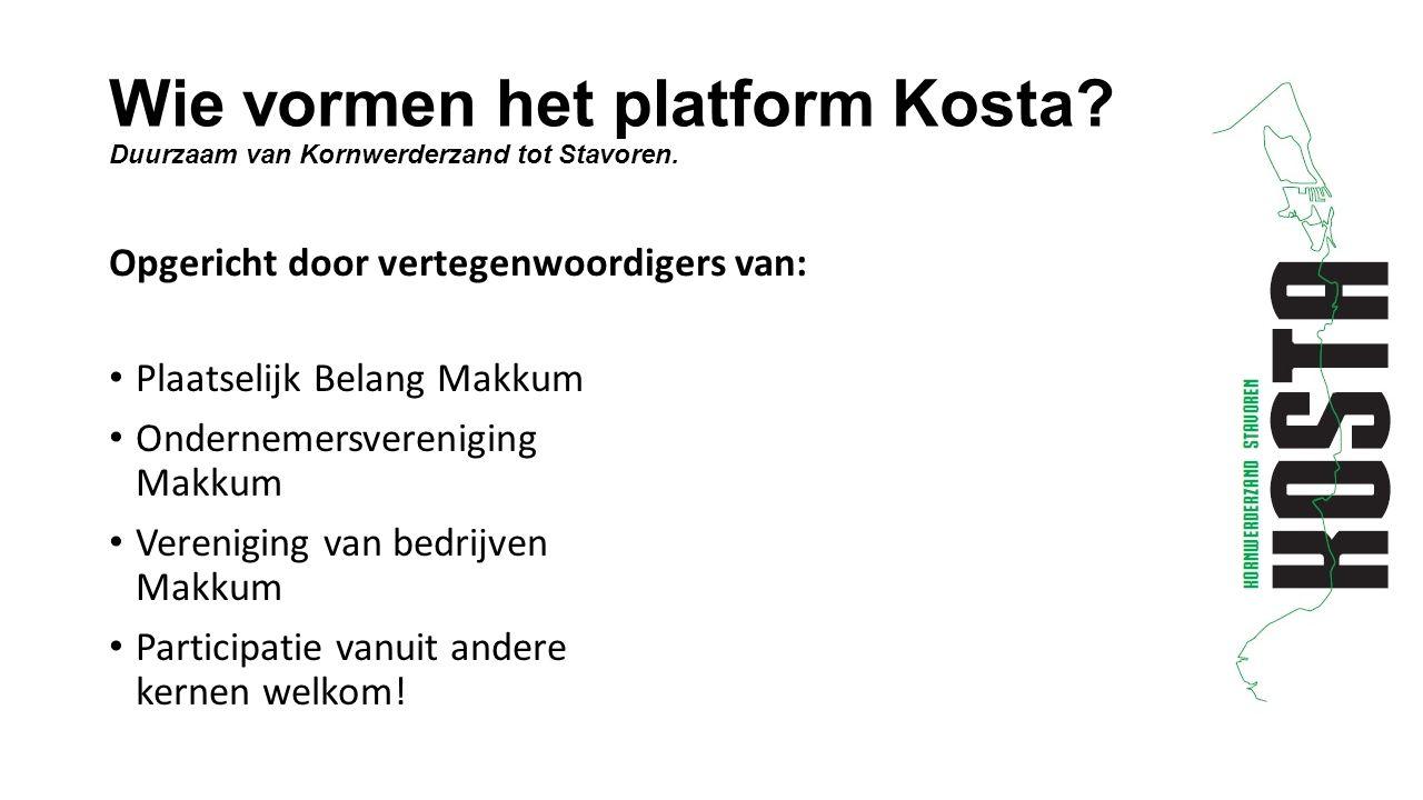 Wie vormen het platform Kosta. Duurzaam van Kornwerderzand tot Stavoren.