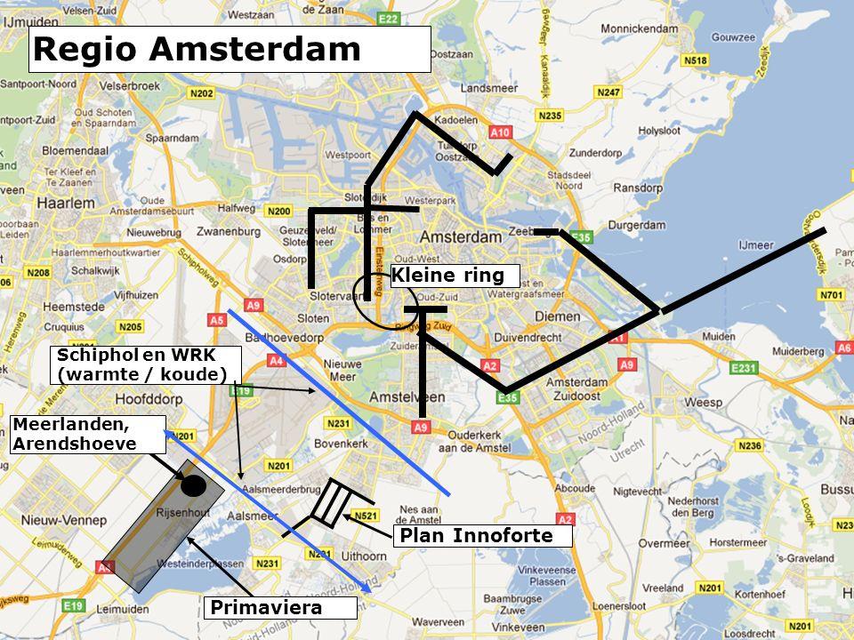 Plan Innoforte Meerlanden, Arendshoeve Primaviera Schiphol en WRK (warmte / koude) Kleine ring Regio Amsterdam
