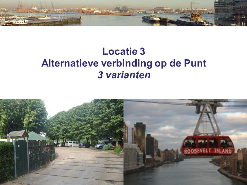 Locatie 3 Alternatieve verbinding op de Punt 3 varianten