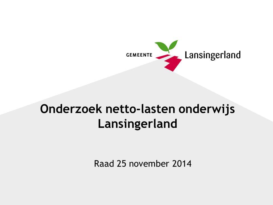 Onderzoek netto-lasten onderwijs Lansingerland Raad 25 november 2014