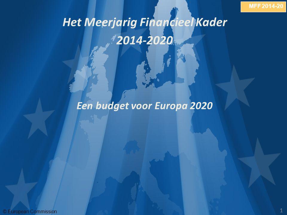 MFF 2014-20 © European Commission 11 Het Meerjarig Financieel Kader 2014-2020 Een budget voor Europa 2020