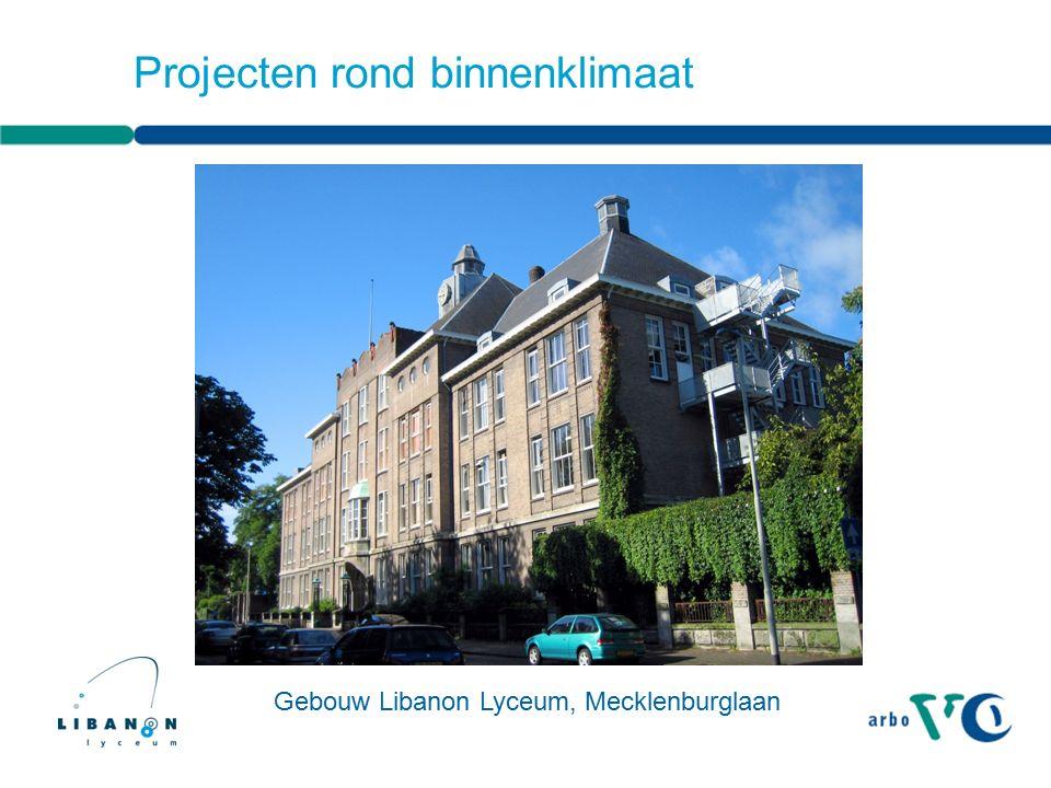 Projecten rond binnenklimaat Gebouw Libanon Lyceum, Mecklenburglaan