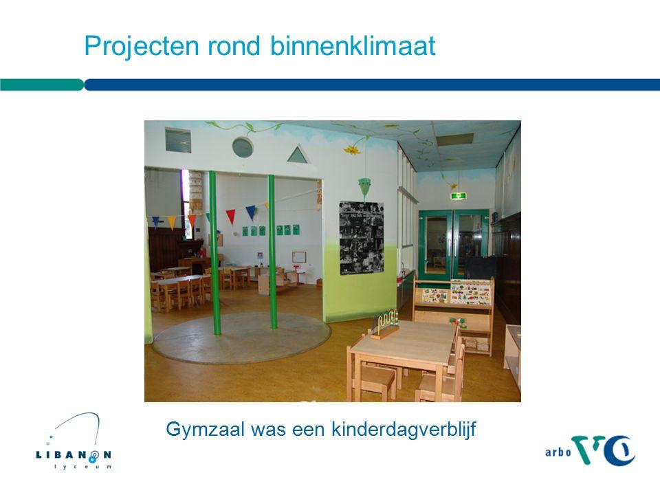 Projecten rond binnenklimaat Gymzaal was een kinderdagverblijf