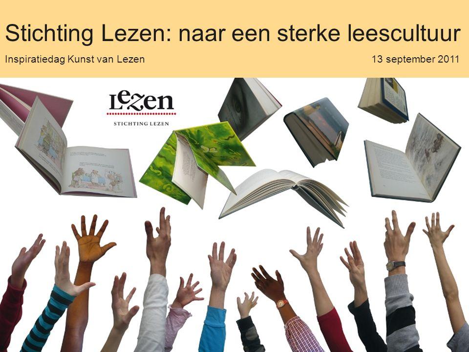 Stichting Lezen: naar een sterke leescultuur Inspiratiedag Kunst van Lezen 13 september 2011