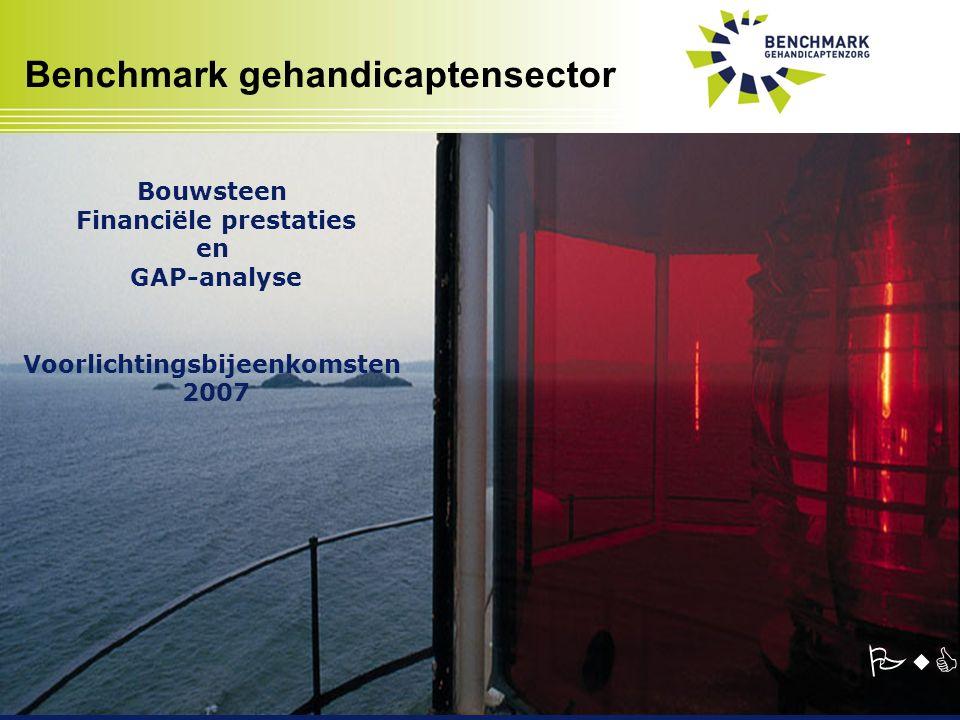 Benchmark gehandicaptensector PwC Bouwsteen Financiële prestaties en GAP-analyse Voorlichtingsbijeenkomsten 2007