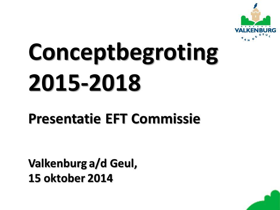 Conceptbegroting 2015-2018 Presentatie EFT Commissie Valkenburg a/d Geul, 15 oktober 2014